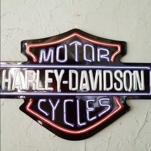 Harley Davidson neon tin sign